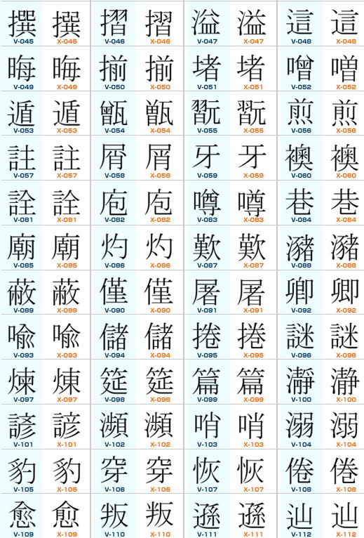 漢字規格2